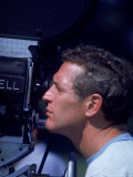 Actor Paul Newman Looking Through a Camera Premium Photographic Print