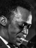 Jazz Musician Miles Davis Performing Premium Photographic Print