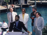 Philip Michael Thomas and Don Johnson at a Press Conference for Miami Vice
