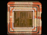 Close Up of the Internal Structure of an Intel Pentium Processor with MMX Technology
