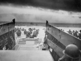 American Troops on Omaha Beach During D Day Invasion of Normandy
