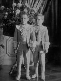 Thurn Und Taxis Princes Louis Philippe and Max Emmanuel Wearing Suits from La Grande Maison Premium Photographic Print
