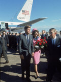 Pres. John F Kennedy and Wife Jackie at Love Field During Campaign Tour on Day of Assassination