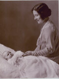 Baby Princess Margaret, Being Watched over Fondly by Her Mother, Queen Elizabeth