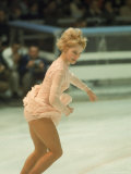 Figure Skater Janet Lynn Performing at 1968 Olympic Games