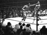 Joe Frazier Vs. Mohammed Ali at Madison Square Garden Premium Photographic Print