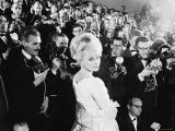 Elke Sommer Attending the Cannes Film Festival Amid a Sea of Photographers