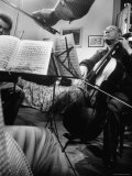 Alexander Schneider and Pablo Casals Playing at an Informal Recital at Casals' Home in Prades