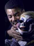 James Earl Jones in Scene from The Blacks, Avant Garde Play by Jean Genet