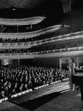 Marian Anderson Performing for an Audience at Carnegie Hall