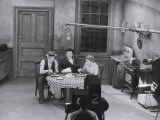 Jackie Gleason, Art Carney and Audrey Meadows in Cramden Apartment, Eating, on