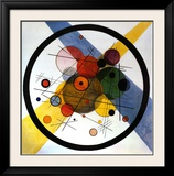 Circles in Circle Framed Art Print