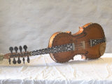 Traditional Hardanger Fiddle with Mother-of-Pearl Inlay, Rosing, Norway