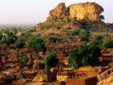 Overhead of Dogon Village Near Bandiagara, Songo, Mali