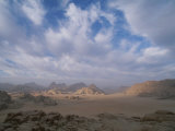 Panoramic View of the Wadi Rum Region from Jebel Burdah