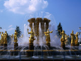 Fountain at the All-Russia Exhibition Centre, Moscow, Russia Photographic Print