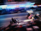 Motorbikes Take to Main Street During Bike Week, Daytona Beach, Florida, USA