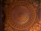 Ceiling Inside Dome of Tilla-Kari Medressa, Uzbekistan