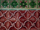 Decorative Tile Work at Thian Hock Keng Temple in Chinatown, Singapore