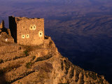 Ruined Building on Hilltop Overlooking Valley, Shihara, Yemen