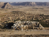 Aerial View of Shibam with its Many Mud-Brick Skyscrapers, Some of Which are Centuries Old