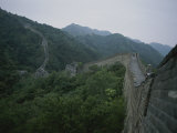 An Elevated View of Part of the Great Wall of China