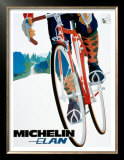 Michelin, Elan Bicycle Tire Framed Art Print