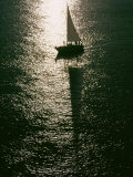 Silhouetted Sailboat on the Columbia River