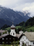 A View from the Orient Express of a Picturesque Alpine Town