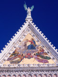 Decorative Steeple of Church, Siena, Italy