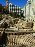 Roman Baths Uncovered During Excavations, Beirut, Lebanon