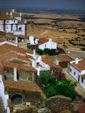 Rooftops and Buildings of Village Overlooking Countryside, Monsaraz, Portugal