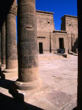 Outer Temple Court at 3Rd Century BC Temple of Philae, Aswan, Egypt