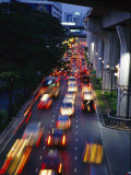 Evening Traffic on a Bangkok Street