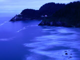 Bay with Heceta Head Lighthouse and Light Keepers House, Yachats, USA