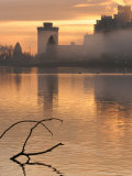 Misty Sunrise on Waterfront, Stanley Park, Vancouver, Canada