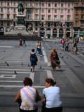 Two Women Chatting on Piazza Del Duomo, Milan, Italy