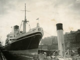 Ceramic Ship Pictured in Govan Dry Dock, April 1952