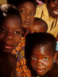 Faces of Ghanaian Children, Kabile, Brong-Ahafo Region, Ghana Photographic Print