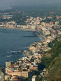 Buy Morning View of Giardini-Naxos Resort, Taormina, Sicily, Italy at AllPosters.com