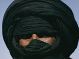 Turbaned Tuareg Man near Hirafok, Algeria