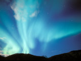 Green Aurora Borealis Around Mt. Snowden, Brooks Range, Alaska, USA Photographic Print