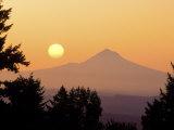 Sunrise Over Mt Hood, Portland, Oregon, USA