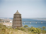Six Harmonies Pagoda and the Bridge Across the Chien Tang River