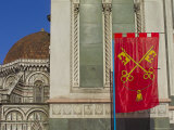 Buy A Flag and a Domed Chapel of the Cathedral of Santa Maria Del Fiore at AllPosters.com