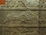 In a Frieze from Nineveh Their Last Ruler, Assurbanipal, Dispatches a Lion in This Sport of Kings
