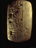 A Description of Commodities Written in Cuneiform on a Mesopotamian Clay Tablet