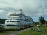 Luxury Cruise Ship Docked at Saint Lucia