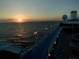 Sunset Over the Caribbean Sea as Seen from the Deck of a Cruise Ship