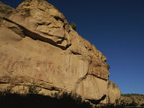 Indian Pictographs on a Sandstone Wall Photographic Print